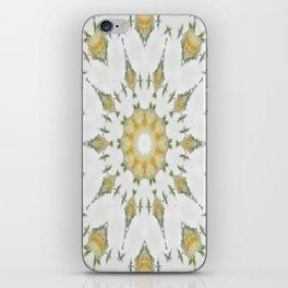 Creamy Yellow Rose Kaleidoscope Art 7 iPhone Skin