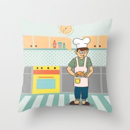 Cooking Time Throw Pillow