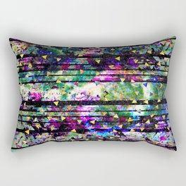 Gold Triangles on Abalone Marble Rectangular Pillow