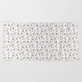 Cute Dungeons and Dragons Pattern Beach Towel