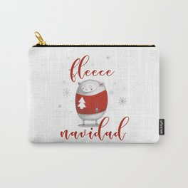 Fleece Navidad Carry-All Pouch