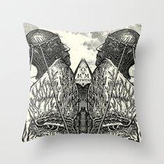 Zephyrus & Eurus Throw Pillow