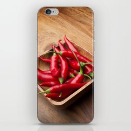 Red hot chilis iPhone Skin