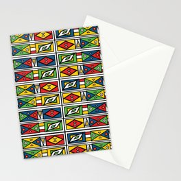 African geometric print Stationery Cards