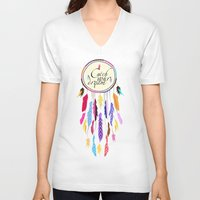dreamcatcher V-neck T-shirts featuring Dreamcatcher by O. Be
