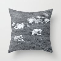 cows Throw Pillows featuring Cows by Mr and Mrs Quirynen