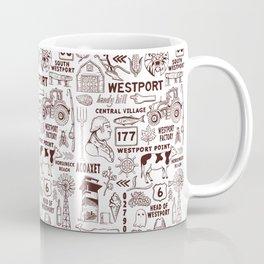 Westport Massachusetts Print Coffee Mug