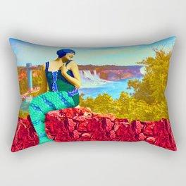 THE MERMAID OF THE BIG FALLS Rectangular Pillow