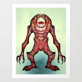 Alien_Oh Art Print