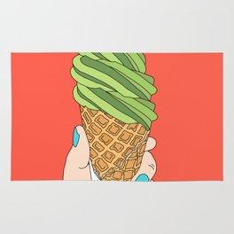 Matcha Ice Cream! Rug