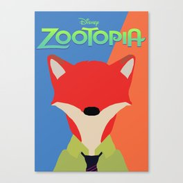 zootopia Canvas Print