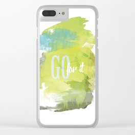 Go for it Clear iPhone Case