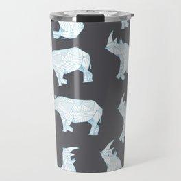 African Animals - Rhino Grey Travel Mug