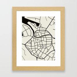 Wismar Karte Framed Art Print