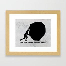 Camus - Sisyphus Framed Art Print
