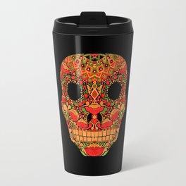 Skull in Khokhloma Style Travel Mug