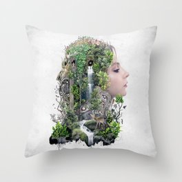 Duality of Nature Throw Pillow