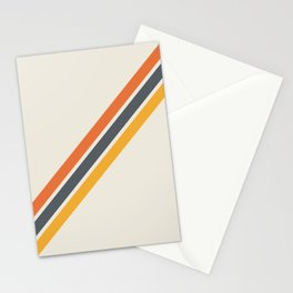 Classic Retro Stripes 03 Stationery Cards