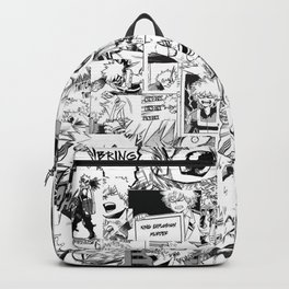 angry bakugou collage Backpack