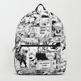 angry bakugou collage Backpack
