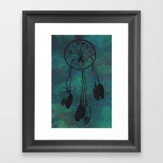 Dreamcatcher (teal) Framed Art Print