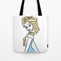 frozen elsa Tote Bags featuring Elsa (Frozen) by Maira Artwork