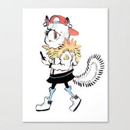 Kat Strut Canvas Print