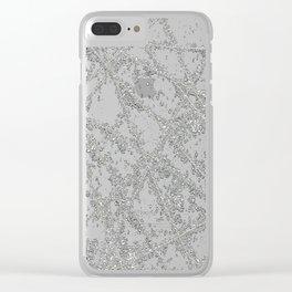 Sparkle Net Black Clear iPhone Case