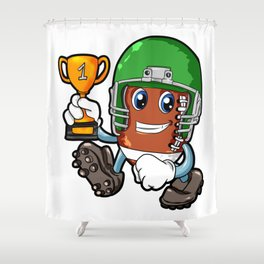 American FOOTBALL CHAMPION Trophy Son Present Shower Curtain