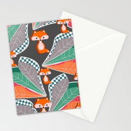 Summer fun with foxes and leaves Stationery Cards