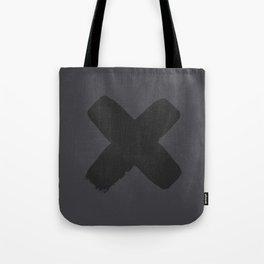 A Black X Tote Bag