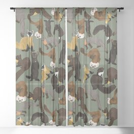 Martens of the World #1 Sheer Curtain