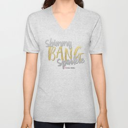 Shimmy Bang Sparkle Unisex V-Neck
