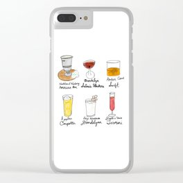 London in Cocktails Clear iPhone Case