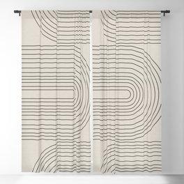Arch Art, Modern Pattern, Mid Century  Blackout Curtain