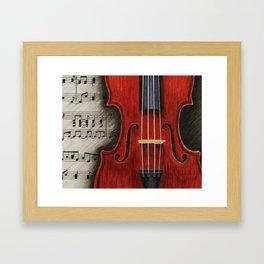 Violin Melodies  Framed Art Print