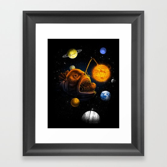 Cosmic Angler  Framed Art Print