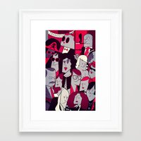 rocky horror picture show Framed Art Prints featuring The Rocky Horror Picture Show by Ale Giorgini