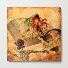 Monsieur Bone in the book of the deaths Metal Print
