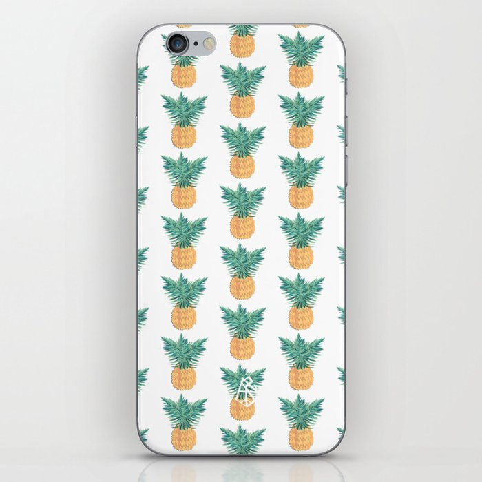 Retro Pineaple iPhone Skin