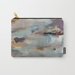 Gentle Beauty [3] - an elegant acrylic piece in deep purple, red, gold, and white Carry-All Pouch