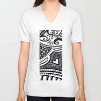 zentangle V-neck T-shirts featuring Zentangle by Wealie