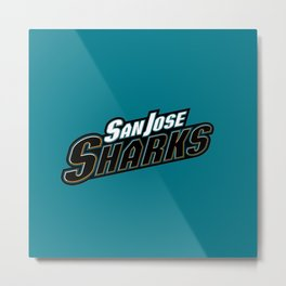 The Blue SanJose Sharks Metal Print