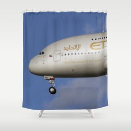 Etihad Airlines Airbus A380 Shower Curtain