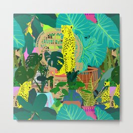 Maximalist Boho Jungle Metal Print