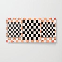 Checker Dot Metal Print