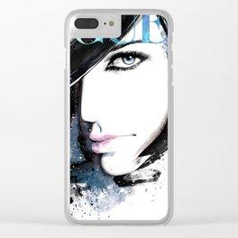 Vogue Fashion Illustration #13 Clear iPhone Case