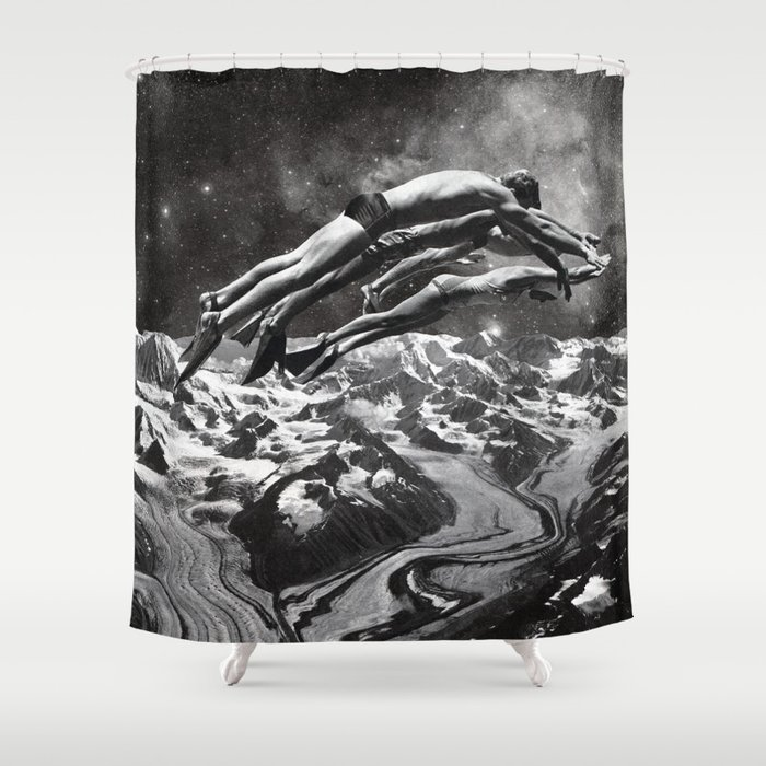 TIME TRAVEL Shower Curtain