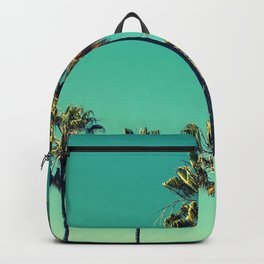 Palm Trees Turquoise Sky Backpack