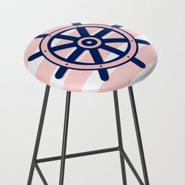 AFE Nautical Helm Wheel 2 Bar Stool